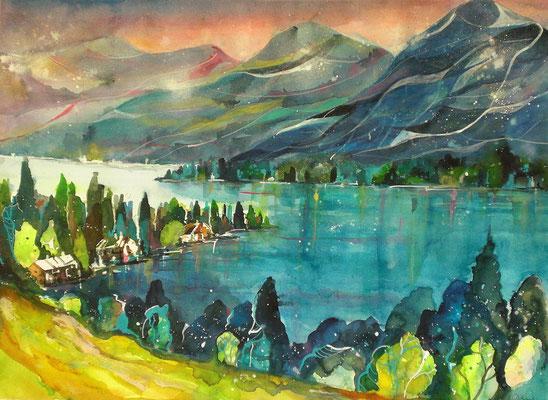 Blick auf den Wolfgangsee  46 x 61