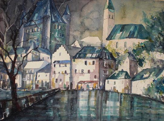 Blick aufs Schloss 2  45.5 x 61