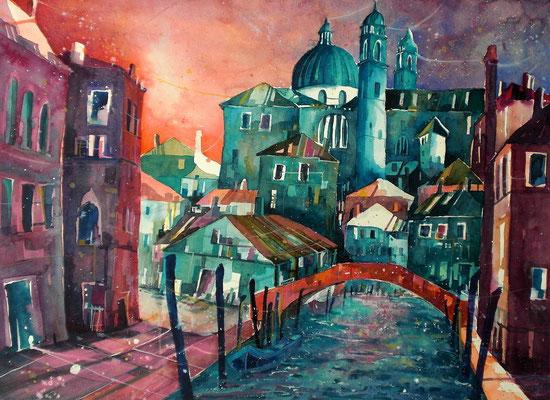 Venedig rio ognissanti  56 x 76