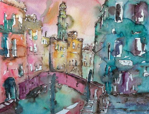 Venedig, Blick auf San Antonini 50 x 65