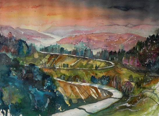 Aquarell Landschaft  45.5 x 61