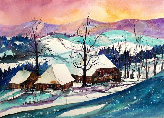 Winterlanschaft im Emmental 5   56 x 76