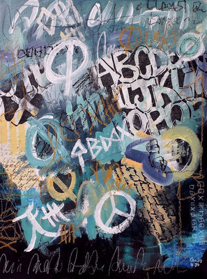 Peace Art  36 x 48 cm