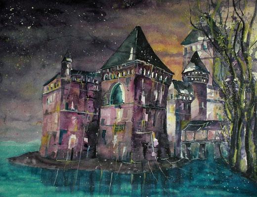 Schloss Chillon auf Torchon  50 x 65