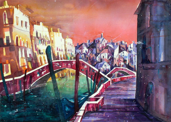 Venedig Rio di Santa Margherita 3    50 x 65