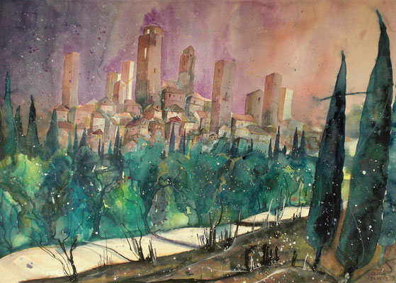 San Gimignano  56 x 76