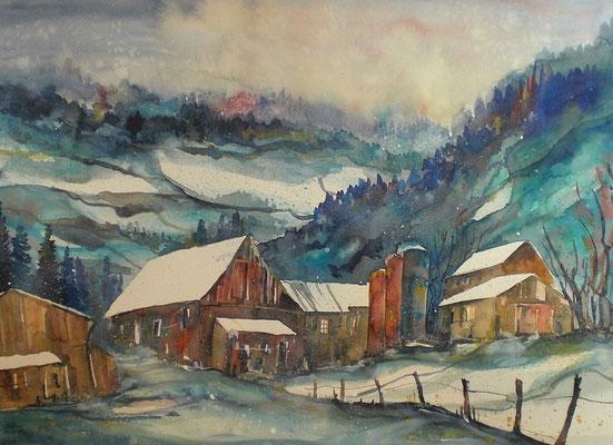 Bauernhof in Boll   45.5 x 61