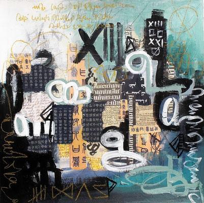 City bustle  45 x 45 cm