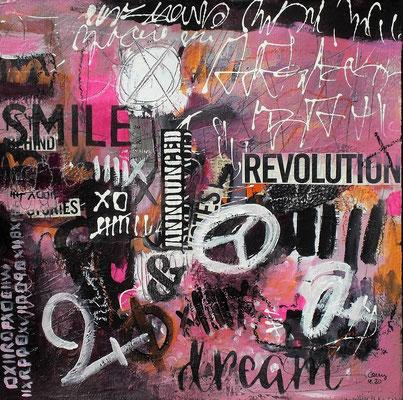 the beauty of dreams   40 x 40 cm
