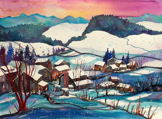 Winterlandschaft im Emmental 6  56 x 76