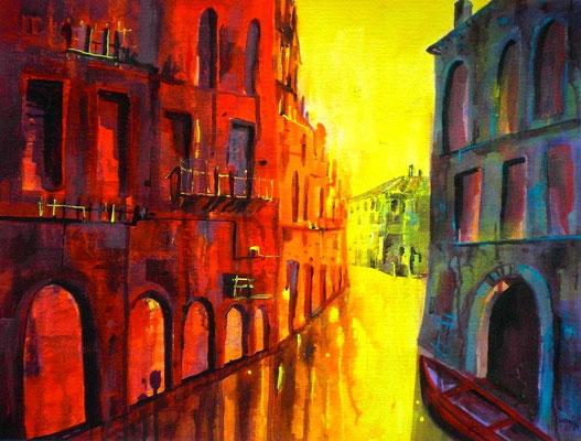Venedig im Sommer  50 x 65   verkauft