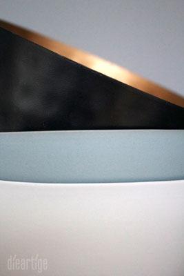 Schalen | Schwarz/Gold, Grau/Mint, Weiß/Grau