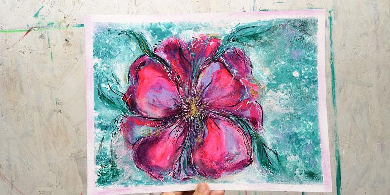Pink Flower - Möge die pinke Macht mit dir sein :-) sei frei, sei du, zeig Dich. Erlebe dich in deiner vollen Blüte und strahle es in die Welt.