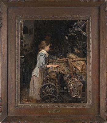 Joan Planella i Rodriguez (Barcelona 1849–1910 Barcelona), La nena obrera, 1885, Museu d'Història de Catalunya Barcelona