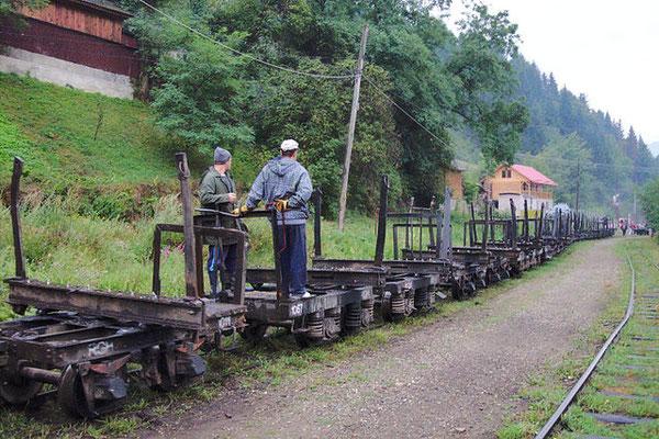 Fast 40km ist die Strecke der Schmalspurbahn lang