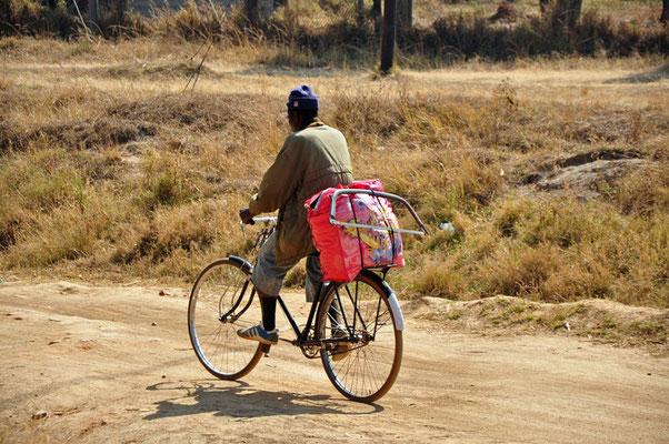 Polé polé op weg naar het werk! Hakuna Matata.