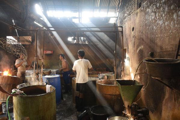 Tempé en tofu fabriekje