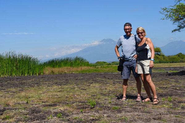 Baluran-vulkaan op de achtergrond