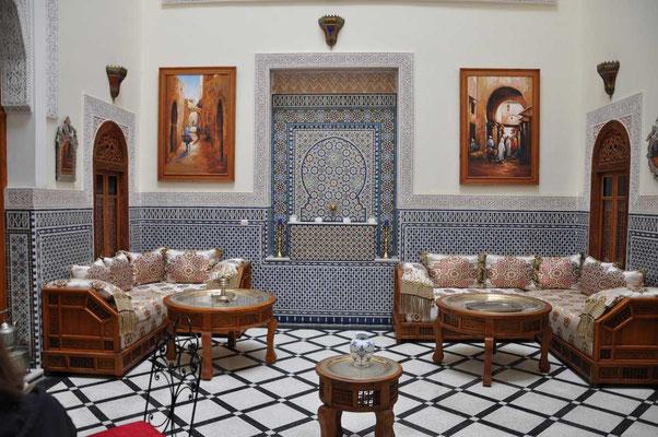 Binnenzicht in ons hotel 'Dar Dalilia' in Fès