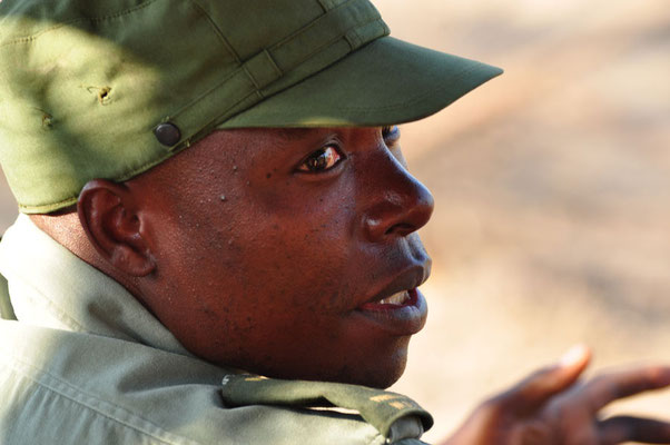 Chauffeur-ranger van de galmedrive in Majete NP
