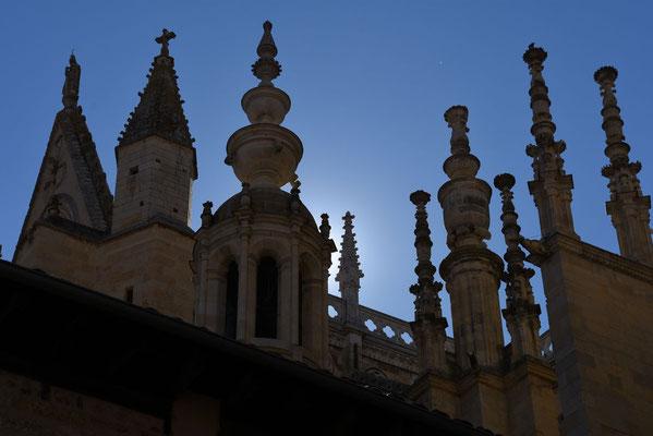 Zicht op de vele torentjes die de kathedraal sieren