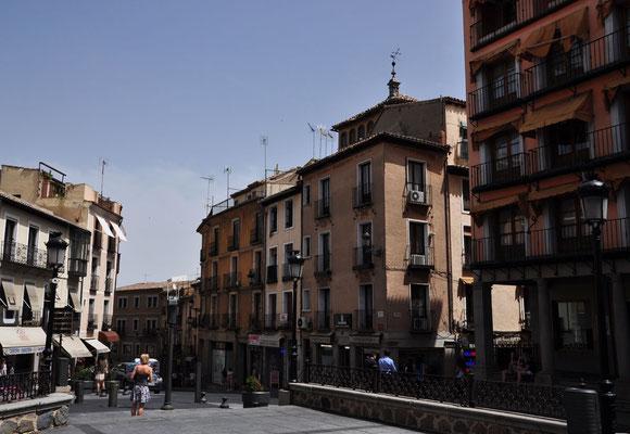 een van de vele pleintjes in de oude binnenstad