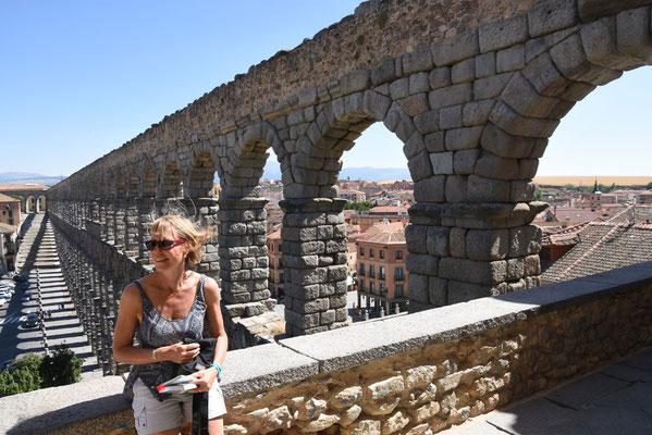 Bovenzicht op het aquaduct