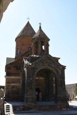De kerk van Khor Virap die op zich niet zo heel veel voorstelt