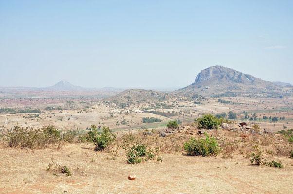 Ergens onderweg tussen Dedza en Lilongwe