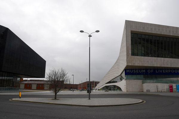 Vooraanzicht van het Liverpool museum