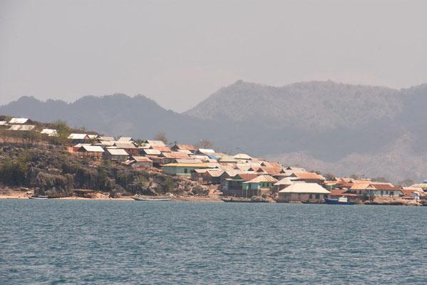 De havenstad 'Sape' op het eiland Sumbawa