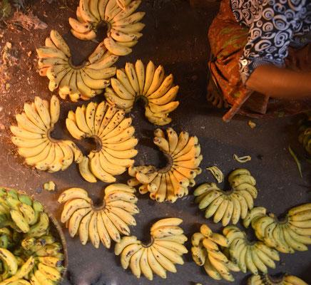 bananen op lokale markt