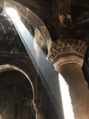 Lichtinval in het portaal
