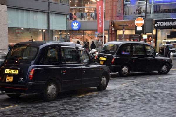 De typische engelse taxis