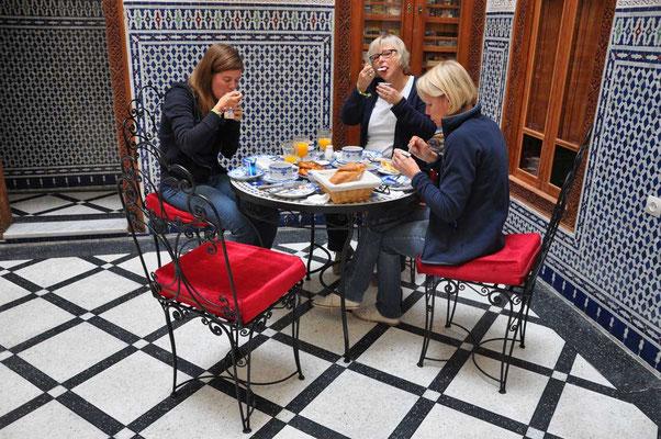 Ontbijt in Fès in 'Dar Dalila'