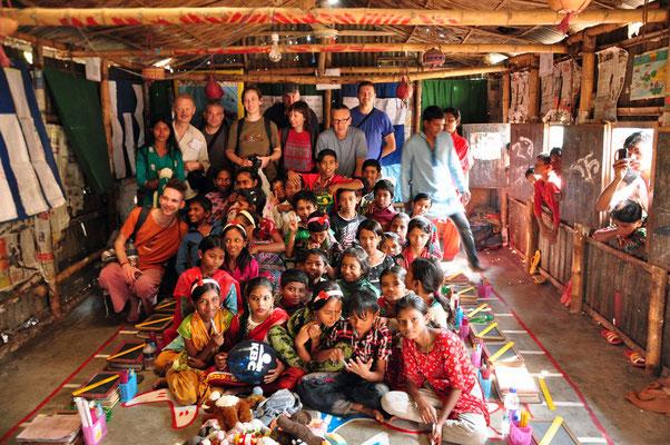 Bashantek-slumbezoek in Dhaka