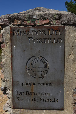 Start van de wandeling naar de 'Mirador del Portillo'