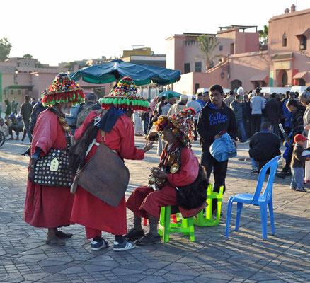 De waterdragers van het Jemna el Fna plein