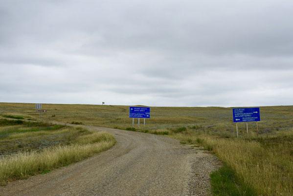Ergens nergens stonden ook deze verkeersborden