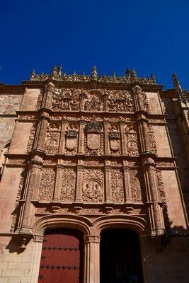 de prachtig versierde toegangspoort van de Universiteit van Salamanca
