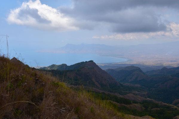 Zicht op de baai nabij Bajawa