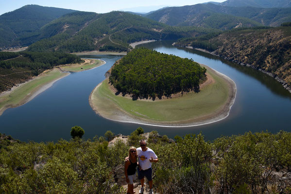 de prachtige meander van Riomalo de Abajo