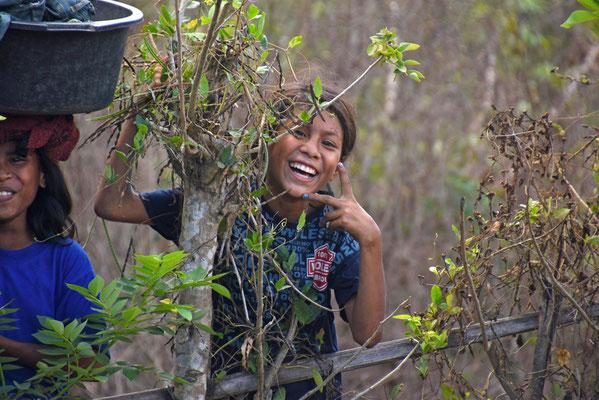 De eeuwige glimlach bij de Indonesische bevolking