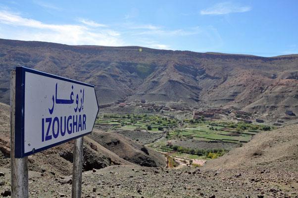 Prachtige landschap nabij Izoughar