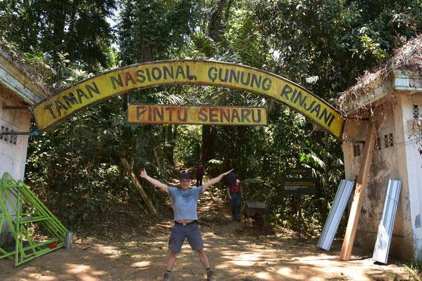 Ingang tot het nationaal park van Gunung Rinjani