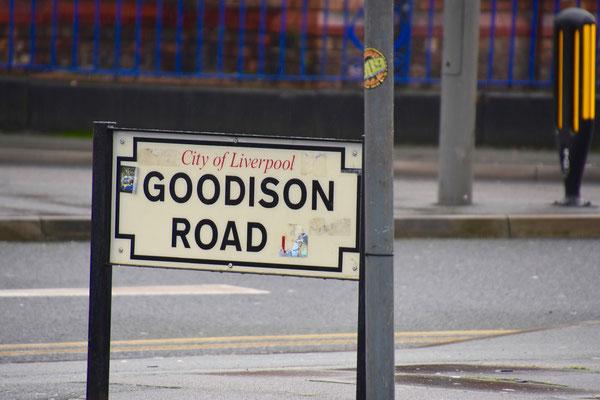 Goodison Road waar het stadion gelegen is