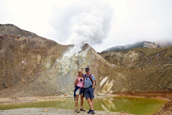 Papandayan vulkaan op 2665m hoogte
