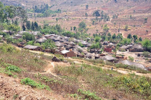 Typisch Malawiaans dorp (grens met Mozambique)