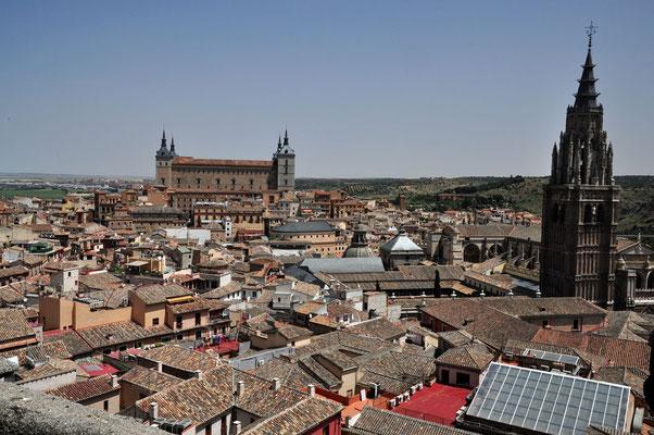 het alles dominerende stadszicht van het 'Alcázar'