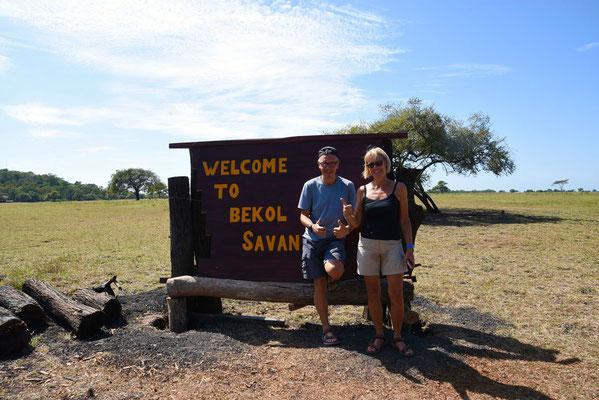 Het begin van de Bekol-savanne. Hier heeft het echt iets van Afrika